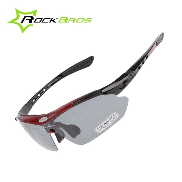 7c6dd1027c ROCKBROS Polarized Sports Men Sunglasses Road Cycling Glasses Mountain Bike  Bicycle Riding Protection Goggles Eyewear 5 Lens