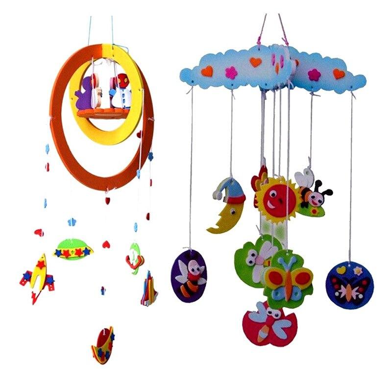 Diy детские погремушки ручной ева ремесло игрушка комплекты windbell завесы наклейки обучающие toys пространства и весной ranodm fl