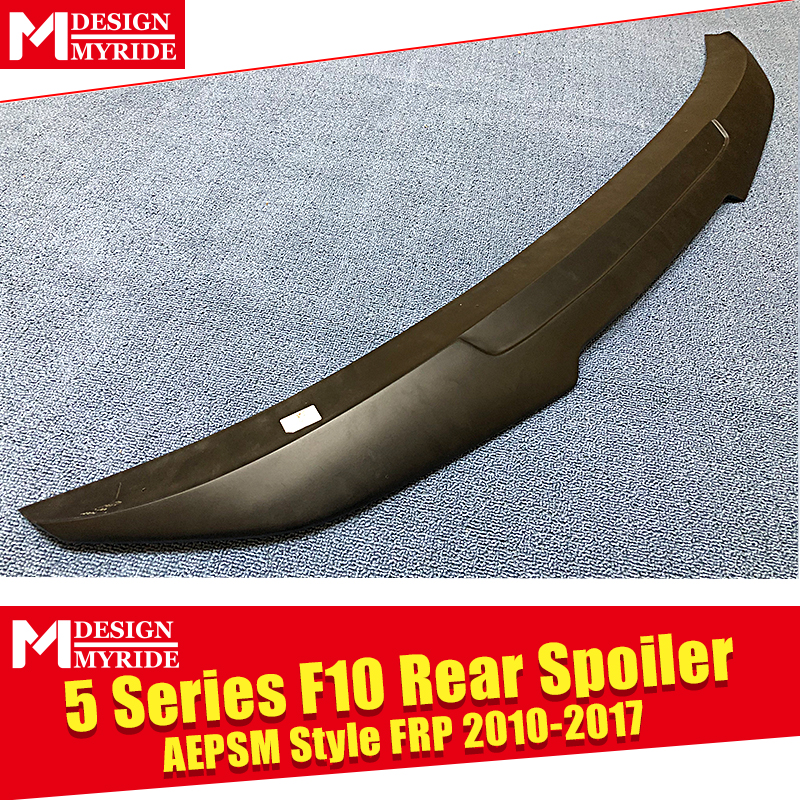 F10 5 Series M5 High Kick Big Trunk Spoiler Wing PSM Style FRP Unpainted For BMW 535i 528i 530i 535i Rear Wings Lip 2010 2017 in Spoilers Wings from Automobiles Motorcycles