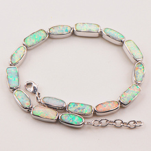 """White Fire Opal 925 Sterling Silver Bracelet P90 8"""" Free Ship High quantity Factory price"""