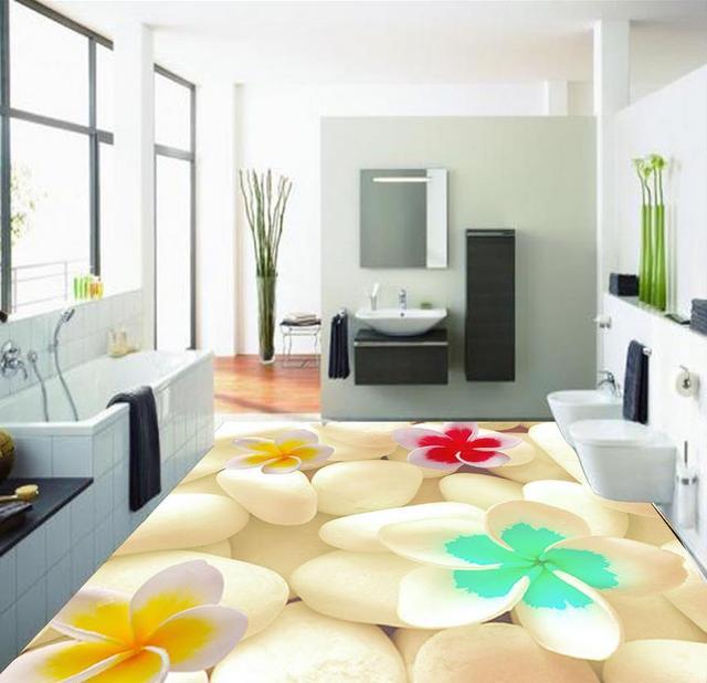Dekoration 3d Badezimmer Tapete Wasserdichte 3d Schone Gepflasterten