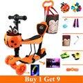 5 1 세발 자전거 스쿠터 아기 조정 핸들 바 및 좌석 pu 빛 위로 바퀴 구매 1 9  4 색상을 사용할 수