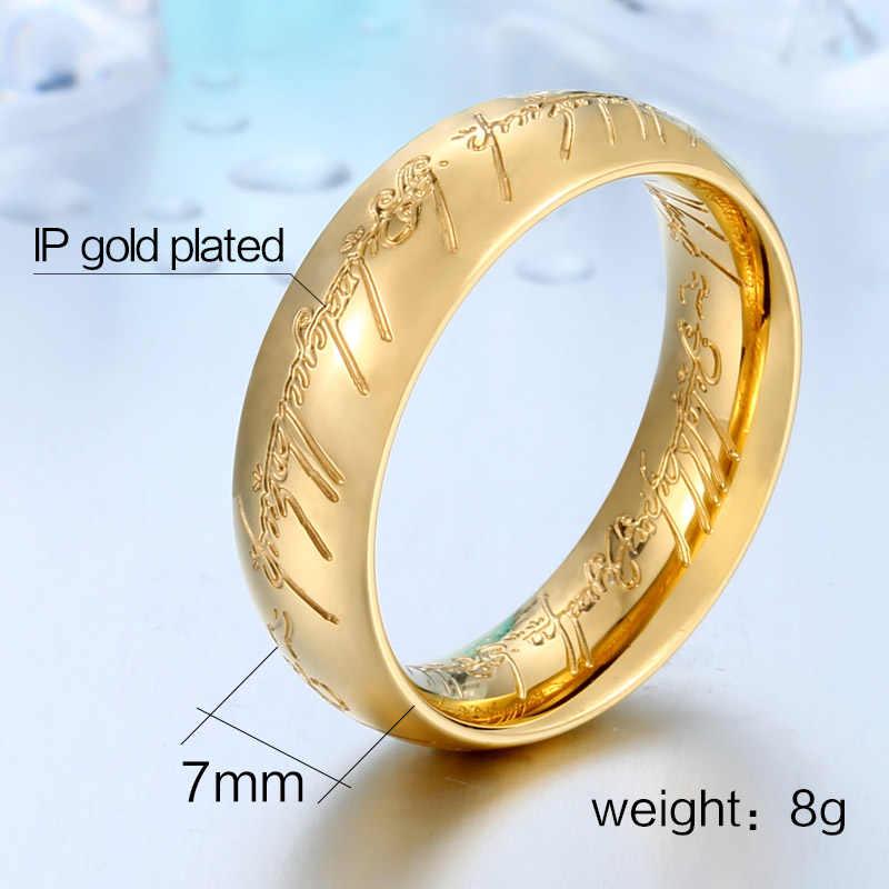 BEIER 316L สแตนเลสคุณภาพสูงสแตนเลสแหวนของ Hobbit ผู้หญิงผู้ชาย king แหวนแฟชั่นเครื่องประดับขายส่ง
