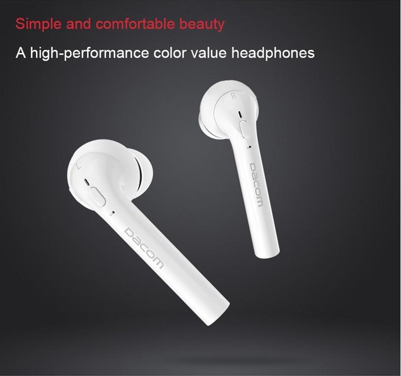 Dacom GF7 Tws True Wireless Bluetooth Headset Mini Bluetooth 4.2 Wireless Headphone Earbuds In-Ear Earphone For Iphone 7 Android 5