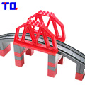 La ciudad de estructuras viaducto carretera-ferrocarril puente gran bloque set niños diy juguetes compatibles con duplo legoe regalo de navidad