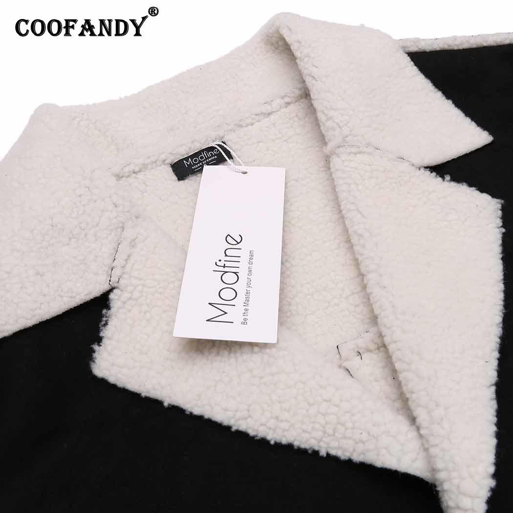 Best buy ) }}Winter Men Warm Lapel Fuax Suede Single-breasted Coat w/ Fleece Lined