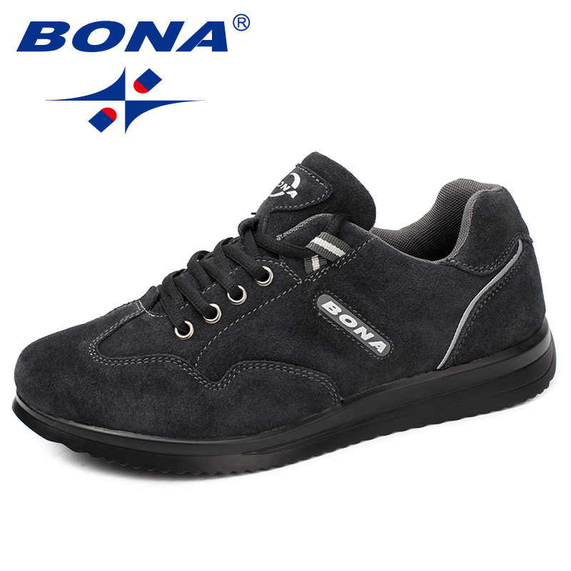 BONA New Arrival Style Men Walking Shoes Lace Up Men Sport Shoes Outdoor Jogging Sneakers Comfortable