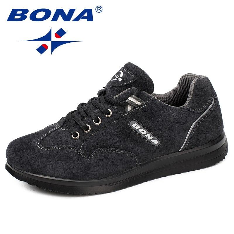 BONA nouveauté Style hommes chaussures de marche à lacets hommes chaussures de Sport en plein air Jogging baskets confortable léger doux livraison gratuite