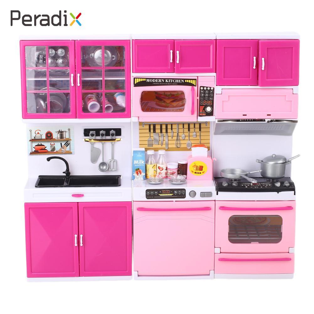 1 набор пластиковых кухонных игрушек для приготовления пищи, игровой набор для приготовления пищи, кухонные игрушки, мини-кухонная утварь, сделай сам, кухонные ролевые Развивающие игрушки для детей - Цвет: 2