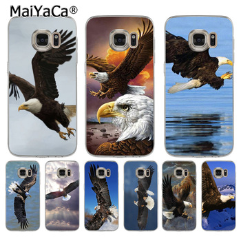 MaiYaCa Eagle EVERLASTING LIBERTY soft tpu phone case cover for samsung galaxy s7 edge s6 edge plus s5 s4 s8 plus case image