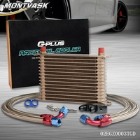 10 Row Engine Oil Cooler Kit + Sandwich Plate Fit For LS1 LS2 LS3