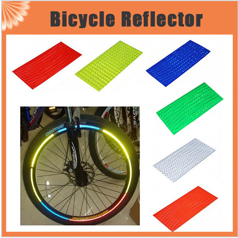 Bicycle Reflector Fluorescent MTB Bike Bicycle Sticker for 26 inch Bike Cycling Wheel Rim Reflective Stickers Decal Accessories