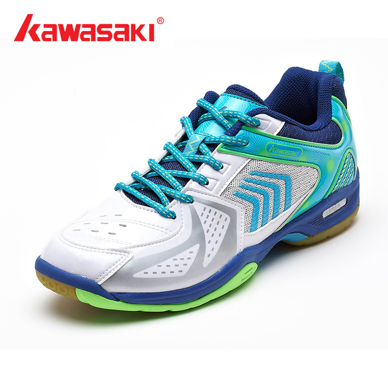 2018 Original Kawasaki Rubber Badminton Shoes For Men And Women Sneakers Sports Shoes K-135 Series 100% original kawasaki badminton shoes men and women badminton training shoes whirlwind series k 515 516