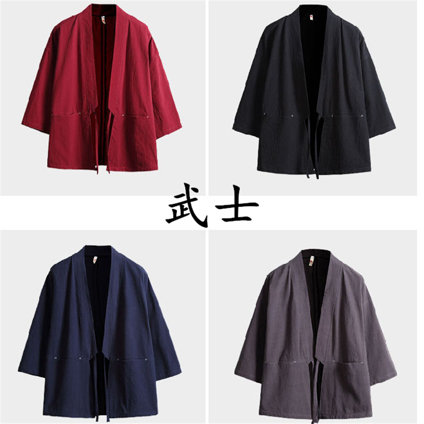 Kimono Samurai Costume Streetwear Plus Size Haori Asian Clothes Yukata Men Women Cardigan Jacket Traditioanl Japanese Clothing