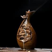 Special antique ceramic fragrance oil burner Tower go back in fragrant sandalwood incense fragrance incense cloud creative back wide back censer heap back inspired by the tibetan mani piles of creative ceramic incense aroma oil burner