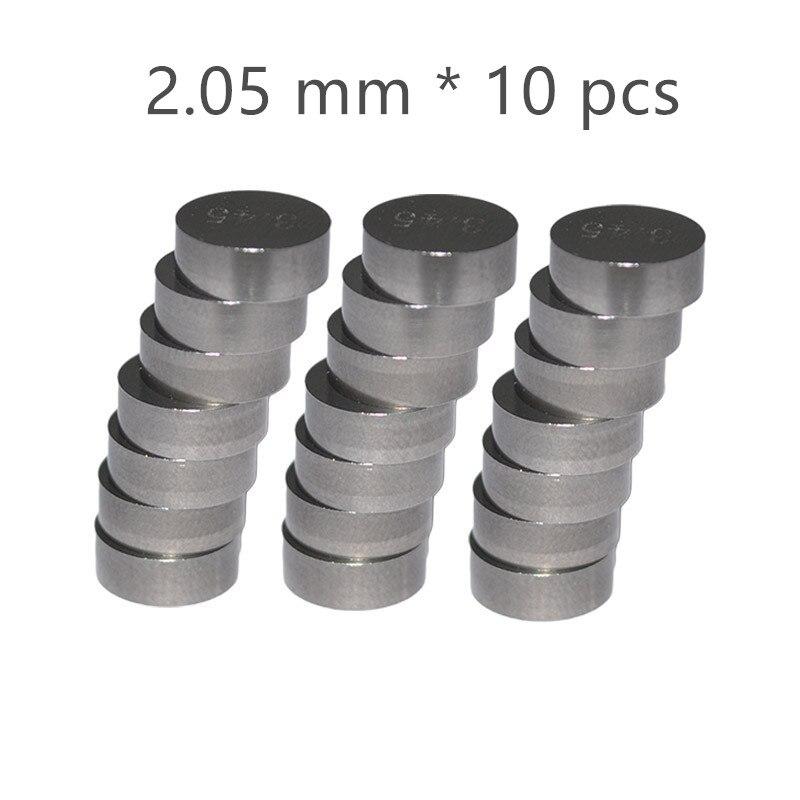 10 шт. 7,48 мм мотоциклетные регулируемые прокладки для клапанов толщина 1,7 мм 1,75 мм 1,8 мм 1,85 мм 1,9 мм 1,95 мм 2,0 мм 2,05 мм 2,1 мм 2,15 мм - Цвет: Оранжевый