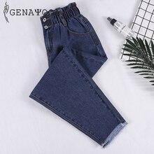 Genayooa Bleistift Jeans Frau Plus Größe Hohe Taille Boyfriend Jeans Für Frauen Elastische Taille Hosen Lose Große Größe Jeans Frau