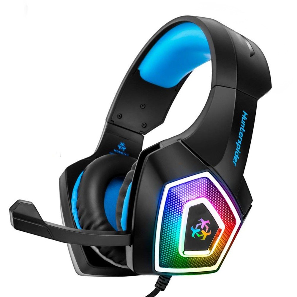Stereo <font><b>Gaming</b></font> Headset Casque Surround Sound Over-Ear <font><b>earphone</b></font> Headphones <font><b>with</b></font> <font><b>Microphone</b></font> LED For PC Laptop playstation 4 Gamer image