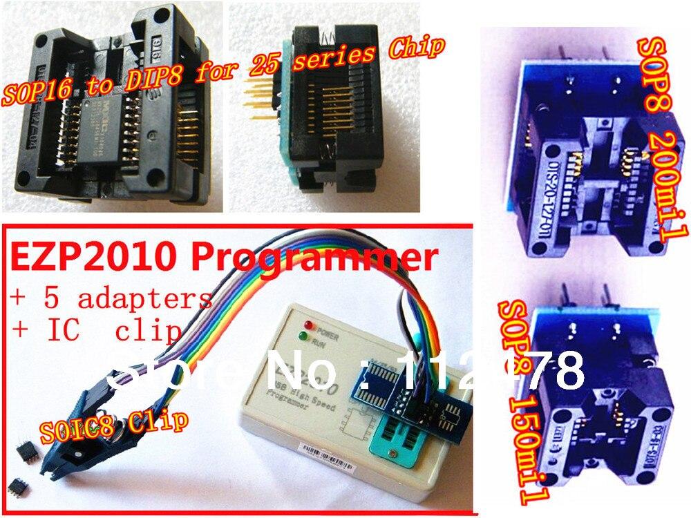 24 25 93 серия USB Высокоскоростной программатор 2010 издание 25T80 биос USB SPI программатор SOP16 SOP8 К DIP8 + 5 адаптеров + SOIC8 зажим