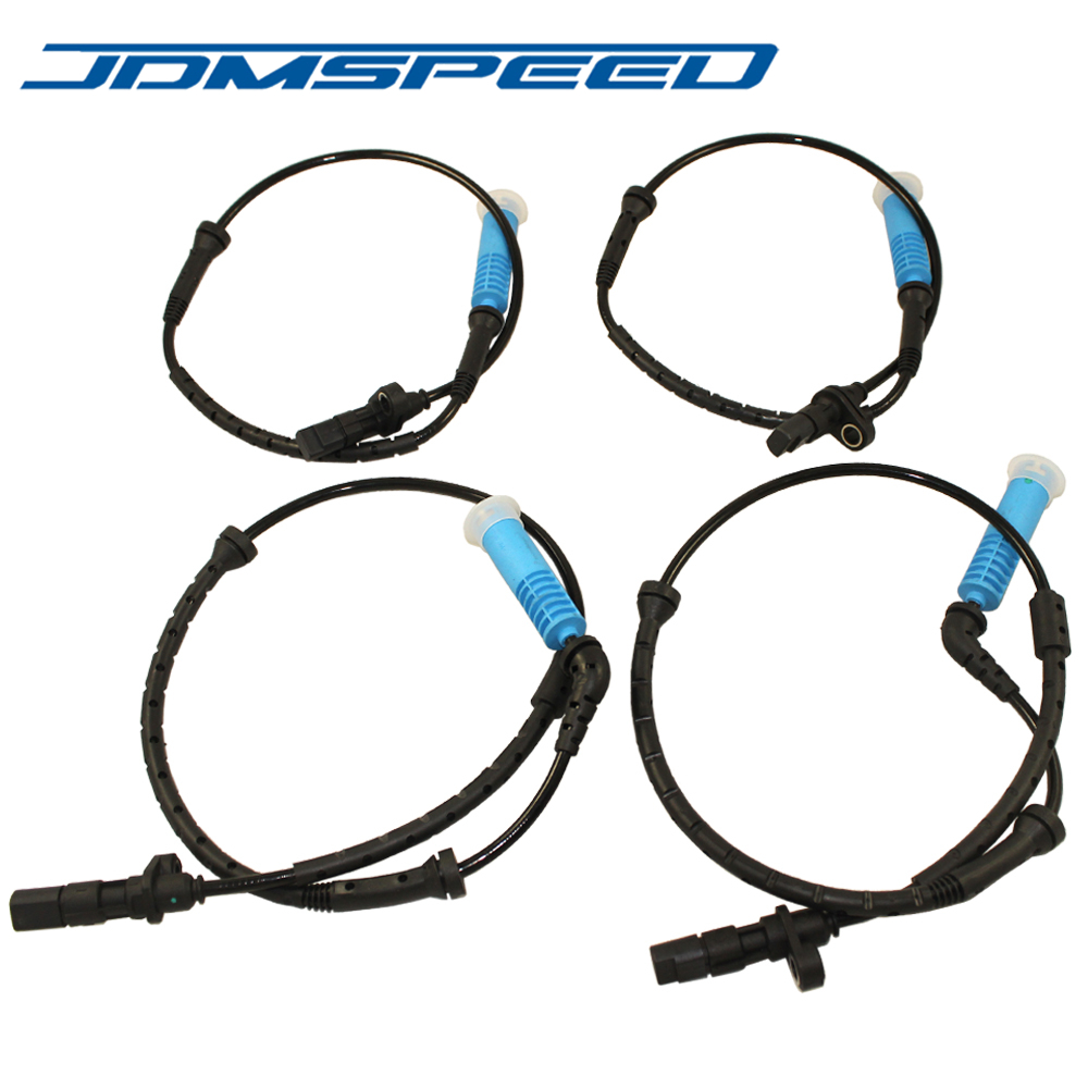 JDMSPEED NEW ABS WHEEL SPEED SENSORS FRONT REAR LEFT RIGHT 34526756380 34526756379 FOR BMW E53 X5