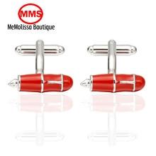 MeMolissa Formal red pen Cufflink for Mens Suits Buttons Geometric Wedding Cufflink French Grooms Shirt Brand Cuff Links Jewelry