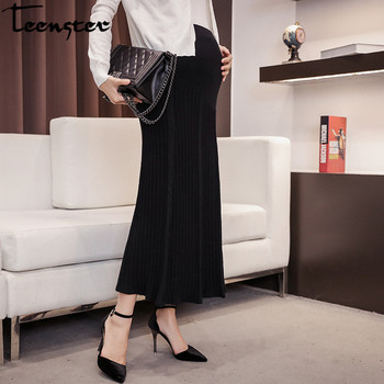 c8a30bc7a Teenster embarazo ropa coreana faldas moda maternidad Otoño Invierno ropa  para mujer embarazada apoyo Bell 2018 nuevo