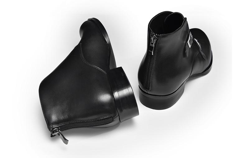 Hombre inside Short Invierno Inside Cuero Zapatos Genuino Trabajo Punta De Otoño Puntiaguda Nuevas Botas Plush Tobillo Chelsea Novia Negocios Leather Vestido Para Nieve wUaXR1qx