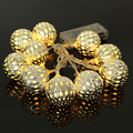 10led Battery Operation LED Fairy Light String Silver Metal Ball Patio Wedding and Party Chritmas Decoration Bedroom Holiday