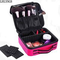 LHLYSGS Brand Cosmetic Bag Women Travel Waterproof Large Capacity Storage Organizer Toiletry Necessity Professional Makeup Bag