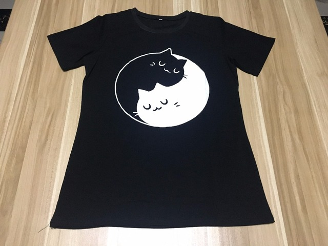 Cute Yin Yang Cats T-shirt
