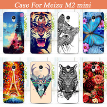 Meizu M2 Mini Case Cover, Colored Painting tiger lion owl rose flower eiffel towers hard pc Case Cover FOR Meizu M2 Mini