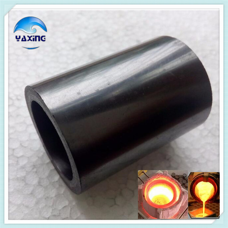 Dia40x H40mm high pure melting graphite crucible for melting metal dia75x h80mm high pure melting graphite crucible for melting metal