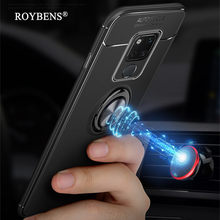 For Huawei Mate 20 Pro Magnetic Car Holder Case Rotate Ring Stand Case Cover For Huawei Mate 20 Soft TPU Silicone Slim Fundas(China)