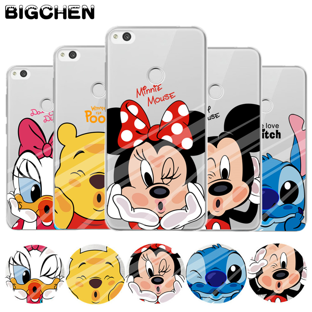 for p8 lite 2017 case cute minnie soft tpu back cover for fundas huawei p8 lite case 2017 new