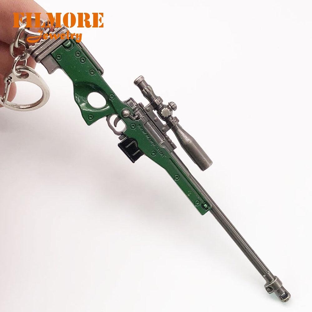 12cm PUBG Airdrop Weapon Sniper AWM Model Key Chains Toys Gun Keychains Rifle Key Rings Keyrings Llaveros Chaveiro Sleutelhanger pedal straps healthrider amazon
