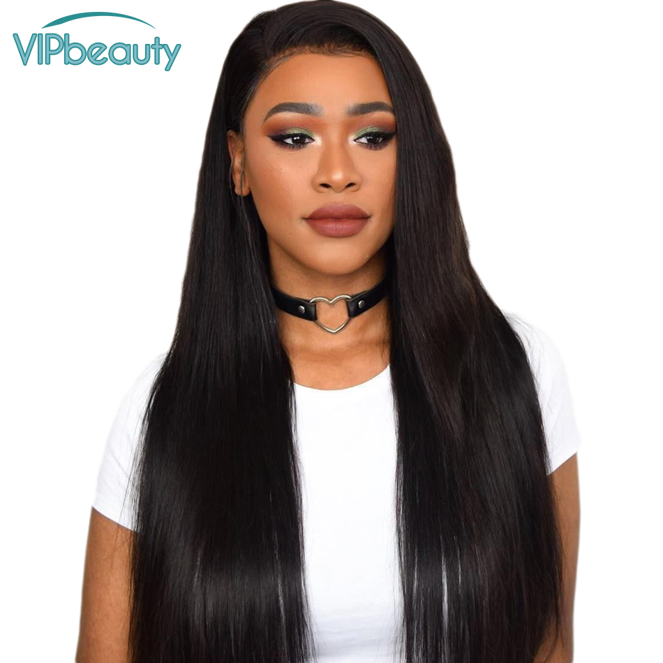 VIPbeauty 360 Lace Frontal Wig 150 Lace Front Human Hair Wigs Long Straight Malaysian Remy Hair