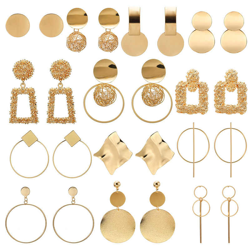 2019 Hot Fashion Statement Earrings Big Geometric earrings For Women Hanging Dangle Earrings Drop Earring modern Jewelry