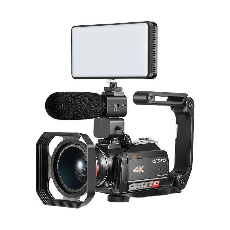 4 k WIFI Digital Video Camcorder con 3.0 ''Schermo di Tocco/12 x Zoom Ottico Professionale Uso Domestico Digitale videocamera