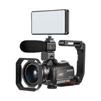 4 k wifi цифровая видеокамера с 3,0 ''сенсорным дисплеем/12 x оптическим зумом Профессиональная домашняя Цифровая видеокамера