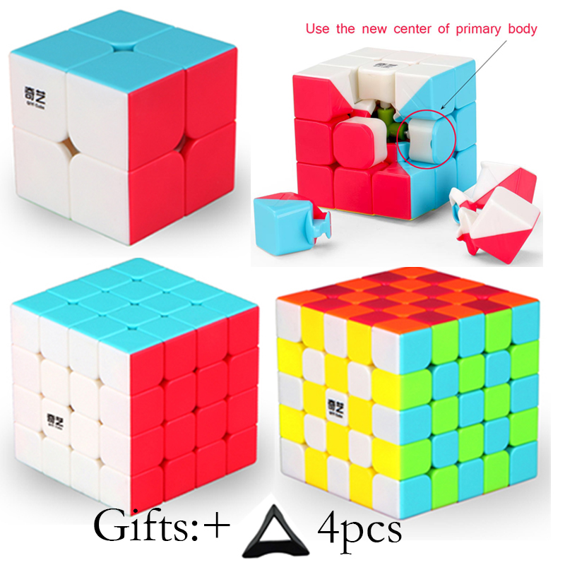 4Pcs Original Qiyi 2x2x2 3x3x3 4x4x4 5x5x5 Professional Speed Magic Cube Puzzle Cubes Educational Toys For Kids Children