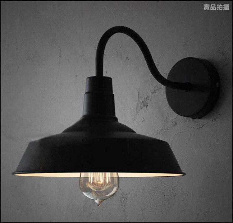 ФОТО Vintage scone wall lights E27 plated Loft american retro vintage metal wall lamp 110V-220V 40W Antique lamp industrial