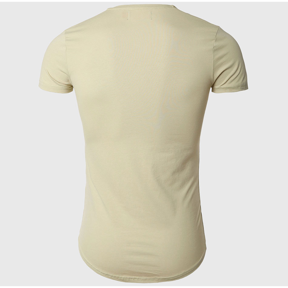 21 Colors Deep V Neck T-Shirt Men Fashion Compression Short Sleeve T Shirt Male Muscle Fitness Tight Summer Top Tees 36