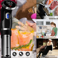 Vacuum Slow Sous Vide Precision Food Cooker 1500W Powerful Immersion Circulator LCD Digital Timer Display Stainless Steel