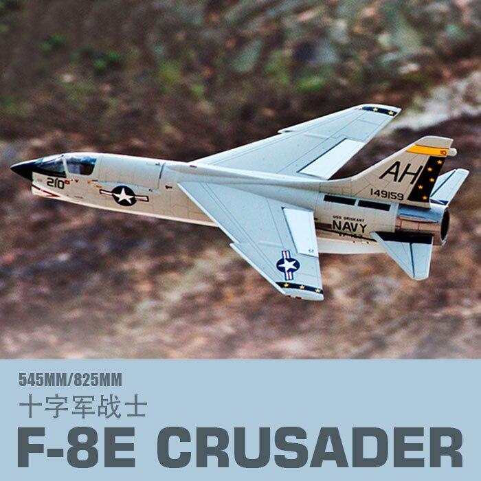 Freewing 새로운 비행기 64mm F 8E 십자군 rc 제트 장난감-에서RC 비행기부터 완구 & 취미 의  그룹 1