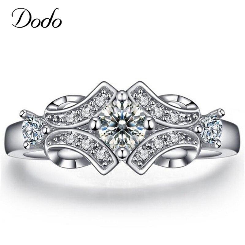 New flower Wedding engagement Rings for women vintage anillos de plata shape Bijoux Accessories bague femme jewelry DR025