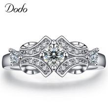 Supernatural Flower Wedding Engagement Rings for Women Vintage Anillos de Plata Bijoux Accessories Bague Femme Jewelry Gift DR25