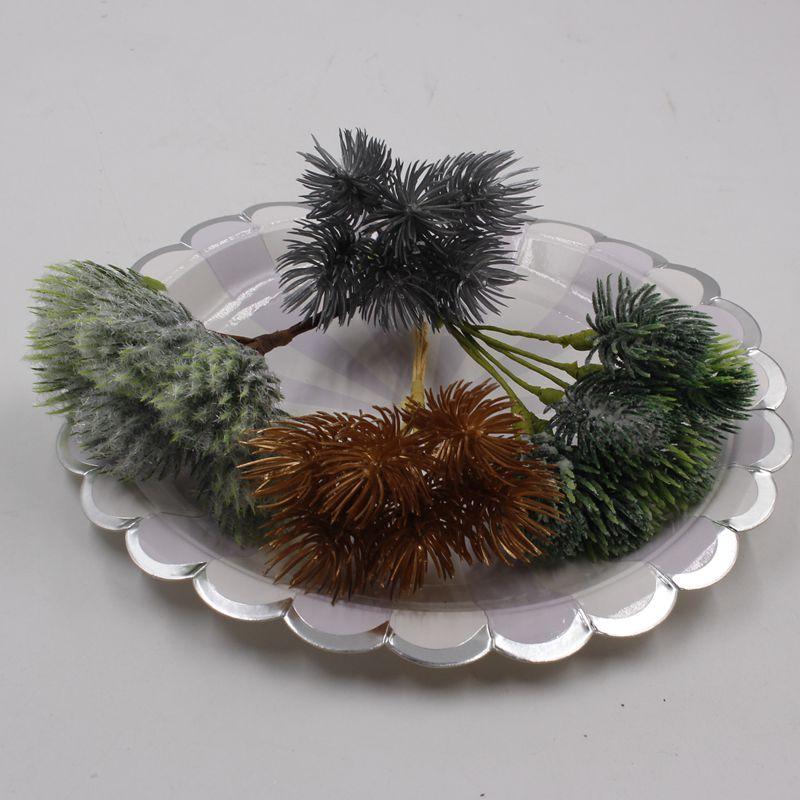 DIY / 6pcs Artificial Flower Green Bouquet Flower Handmade Home Wedding Party Christmas Garden Decoration thumbnail