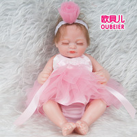28cm Baby sleep doll reborn Baby Fashion Display silicone baby doll reborn dolls babies