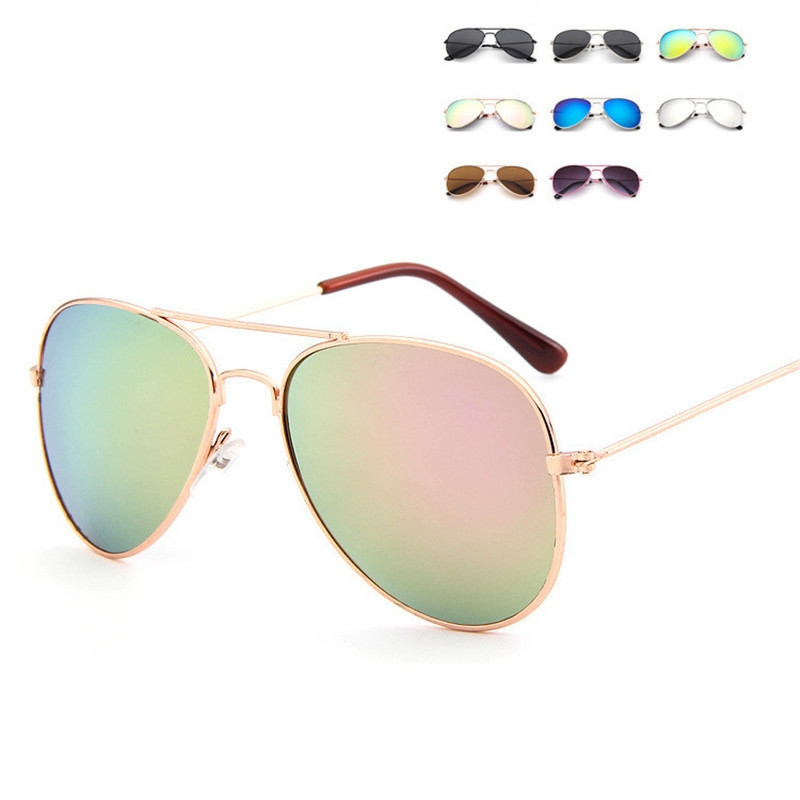 Lovely-Brand-Designer-Sun-Glasses-for-Children-Cool-Mirror-Reflective-Meta L-Frame-Kids-Sunglasses-Girls Sunglass