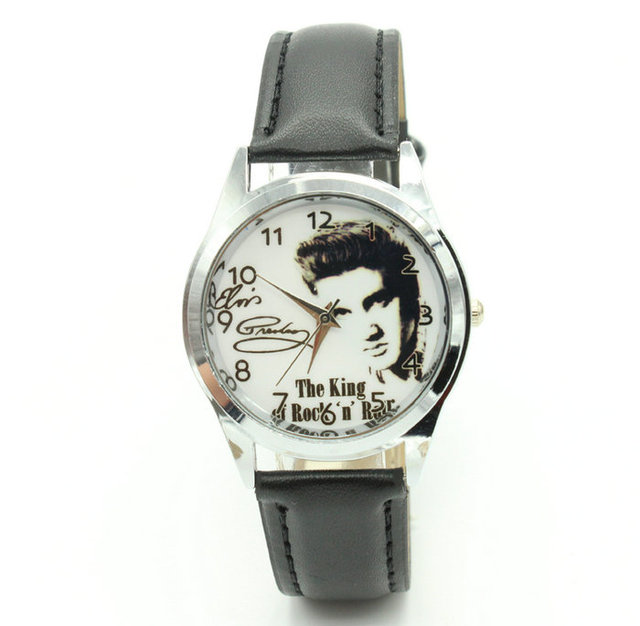 Elvis Presley watch Men's Wrist Watches Leather Watchband Top Luxury Brand Males